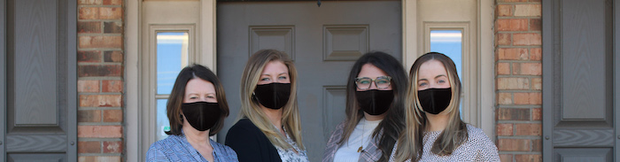 Photo of our staff in masks.